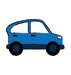Drawn blue car transport industry contamination vector