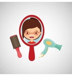hairdressing salon design vector image