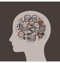 Head medicine3 vector image vector image