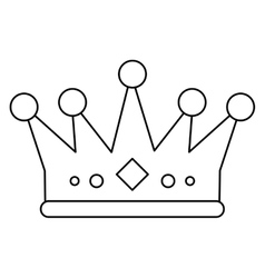 Isolated royalty crown design vector