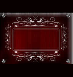 Lacy frame for photography on a red background vector