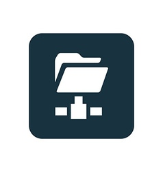 Net folder icon rounded squares button vector
