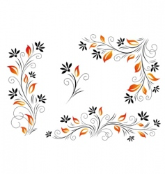 Red leaves vector