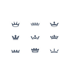 set of royal crowns icons and logos vector image vector image