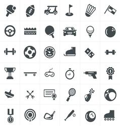 Sport icons set design vector