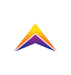 success triangle arrow business logo vector image vector image