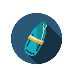 Torpedo rescue lifeguard buoy flat icon Summer vector image