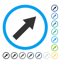 Up-right rounded arrow icon vector