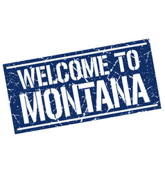 Welcome to montana stamp vector