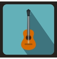 Classical guitar icon flat style vector image