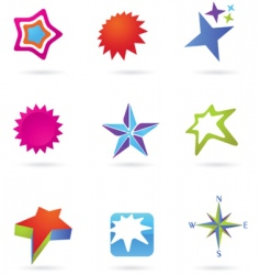 Star icons and logos vector