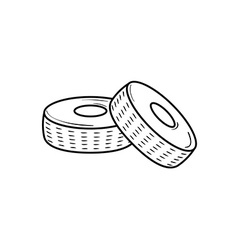 Two tires vector