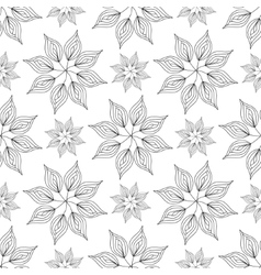 Seamless pattern floral ornament vector