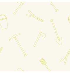Seamless background with garden instrument vector
