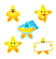 star stickers vector image