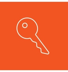 Key for house line icon vector