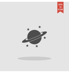 Jupiter planet icon vector