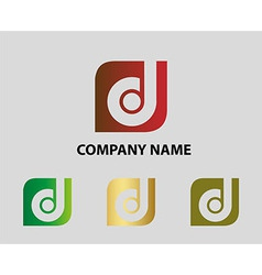 Abstract letter d icon vector