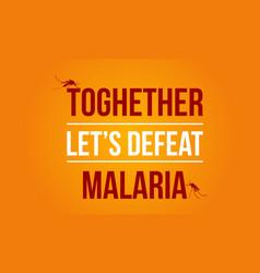 Background malaria day art vector