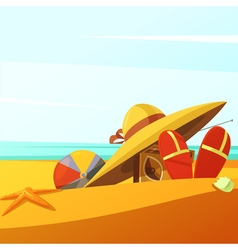 Beach wears vector