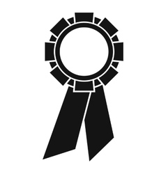 Champion medal icon simple style vector