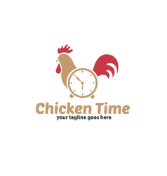 Chicken time logo vector