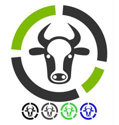 Cow diagram flat icon vector
