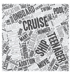 Cruise Ship Activities Geared Towards Teenagers vector image