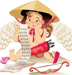 Cupid chines vector
