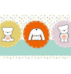 cute bears vector image