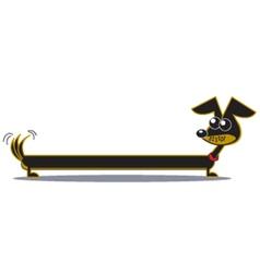 Cute dachshund vector image vector image