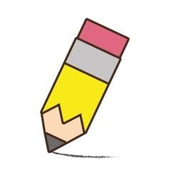 Drawing pencil write school vector