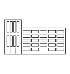 figure city school building line sticker vector image