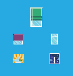 Flat icon frame set of glass frame balcony frame vector