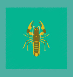 Flat shading style seafood lobster vector