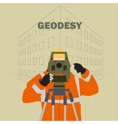 Geodetic engineer vector