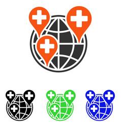 Global clinic company flat icon vector