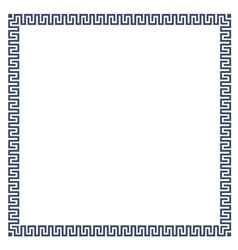 Greek simple decorative frame for design vector