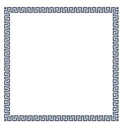 Greek simple decorative frame for design vector image