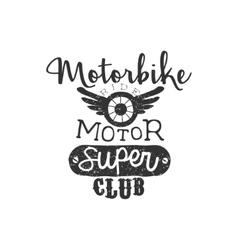Motor super club vintage emblem vector