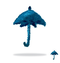 Oil painted umbrella vector