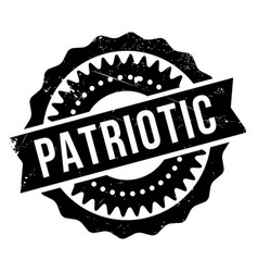 Patriotic rubber stamp vector