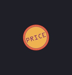 Price computer symbol vector image