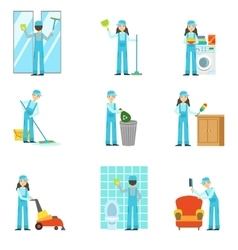 Professional clean up service set of vector