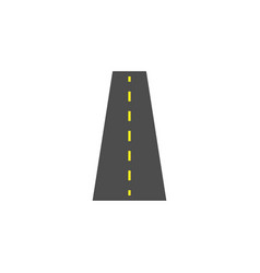Road solid icon navigation and street vector