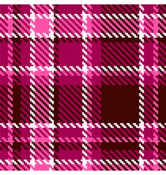 Seamless Red and Pink Checkered Fabric Pattern vector image