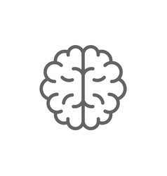 simple brain line icon symbol and sign vector image vector image