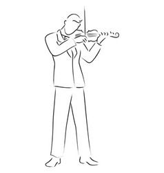 Violinist vector