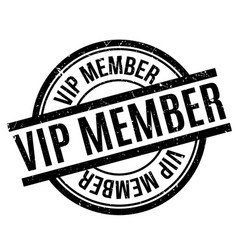 Vip member rubber stamp vector