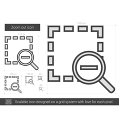 Zoom out line icon vector